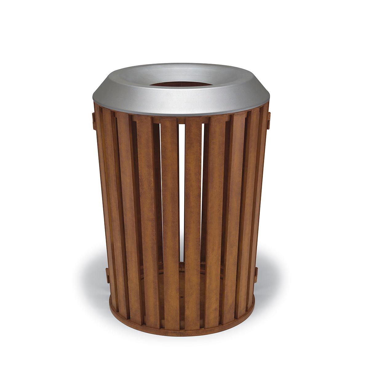 woodridge 32 gallon trash can with flat top