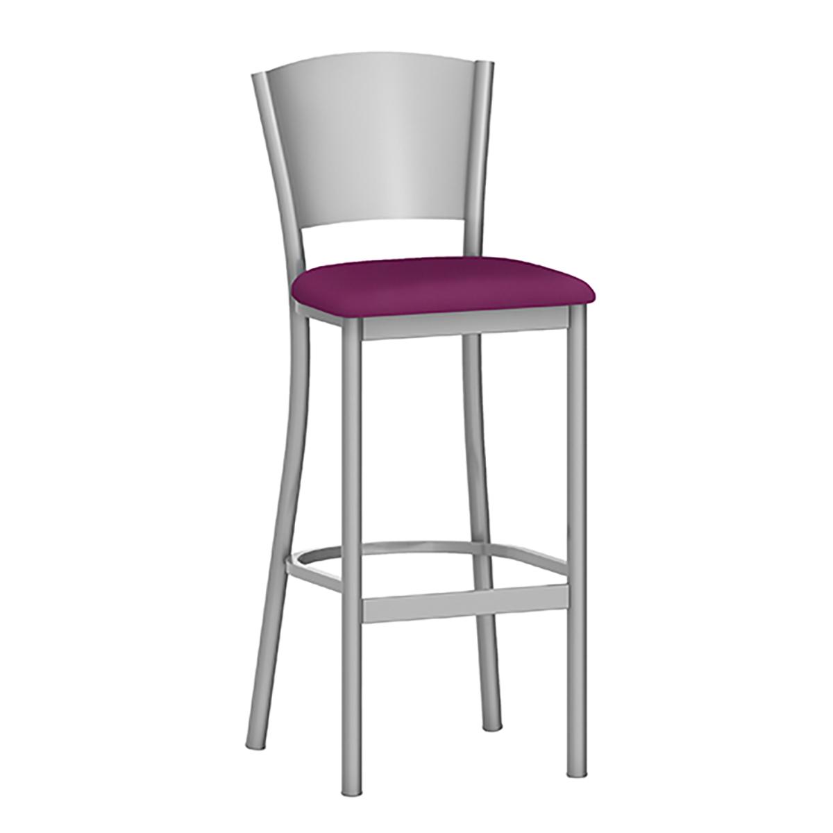 metal barstool with upholstery