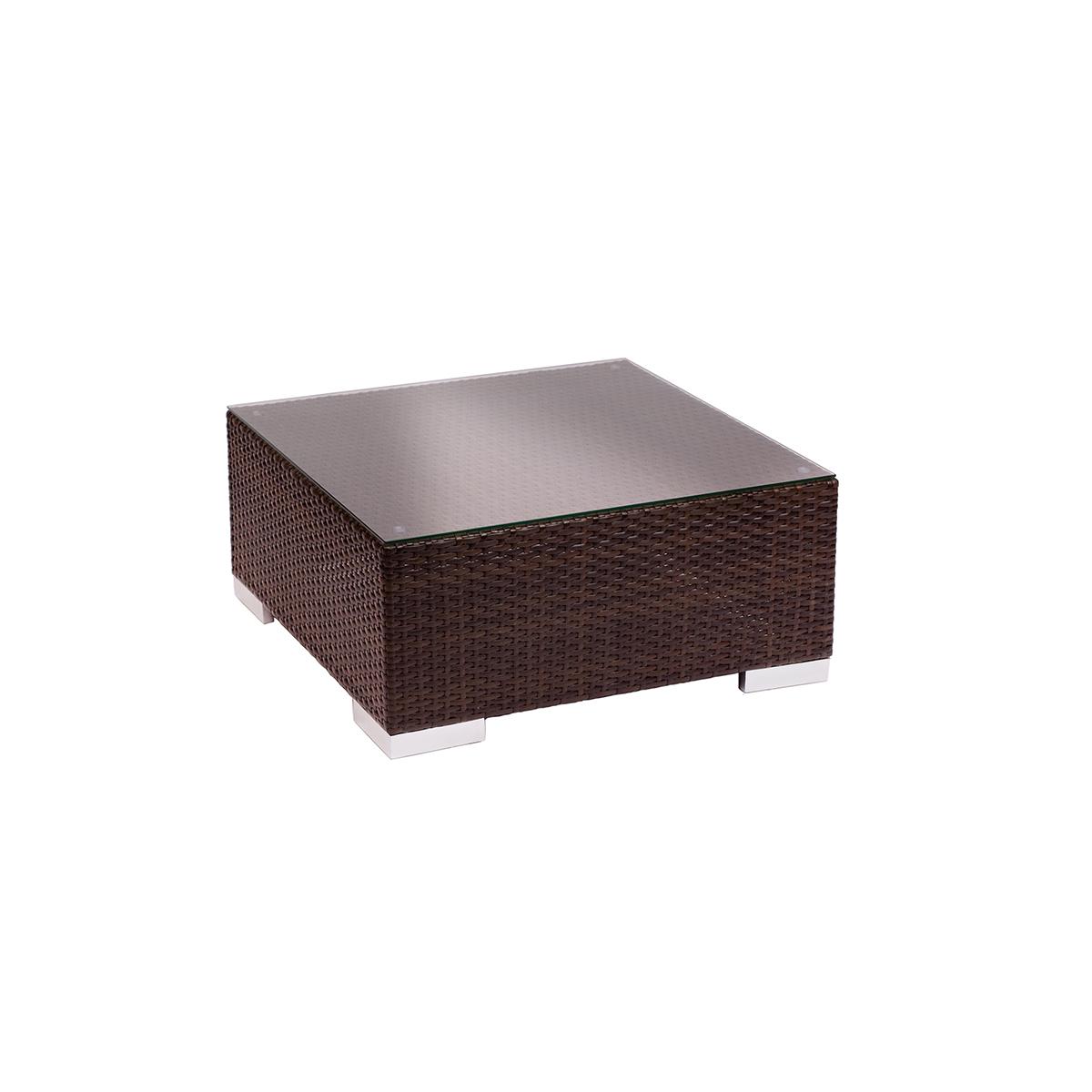 weave outdoor cofffee table in dark brown
