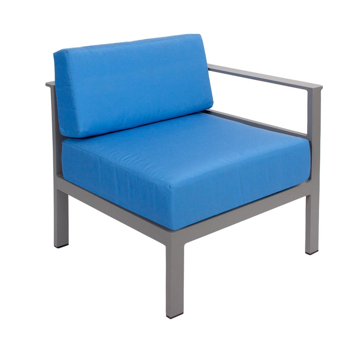 left arm soft gray sofa piece