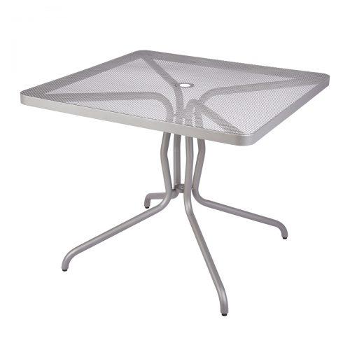 silver mesh outdoor table