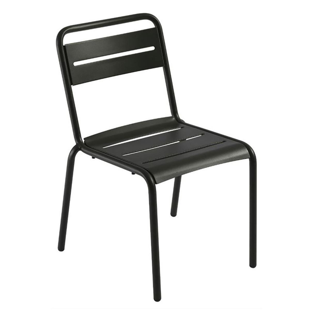 steel slat side chair