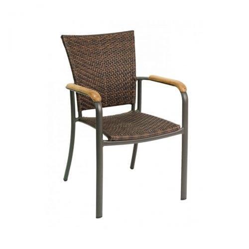 safari weave outdoor arm chair