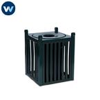 wabash outdoor trash receptacle