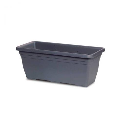 charcoal rectangular planter